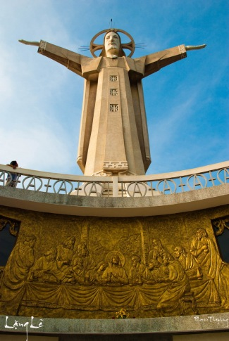 Christ of Vung Tau is a statue of Jesus, standing on Mount Nho in Vung Tau